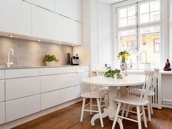 Bilder, Kök/matplats, Trägolv, Vitt, Köksluckor - Hemnet Inspiration