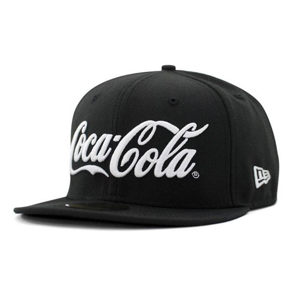 COCA COLA x NEW ERA「Soda Series」59Fifty Fitted Baseball Caps |... ❤ liked on Polyvore featuring accessories, hats, caps, casquette, fitted hats, fitted caps, fitted baseball caps, fitted baseball hats and baseball cap