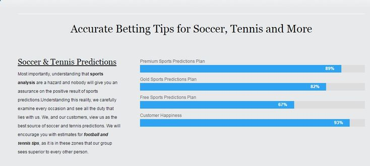Free Betting Tips - Looking for the best betting tips for soccer predictions or tennis predictions? We provide free and paid daily soccer, tennis and sports betting tips. - Receive Free Betting Tips from Our Pro Tipsters Join Over 76,000 Punters who Receive Daily Tips and Previews from Professional Tipsters for FREE