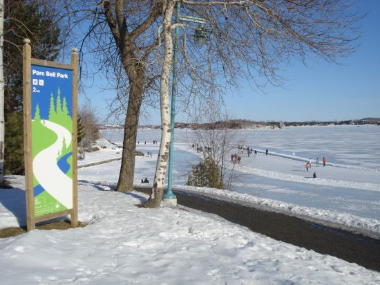 Ramsey Lake Skate Path at Bell Park, in the City of Greater Sudbury