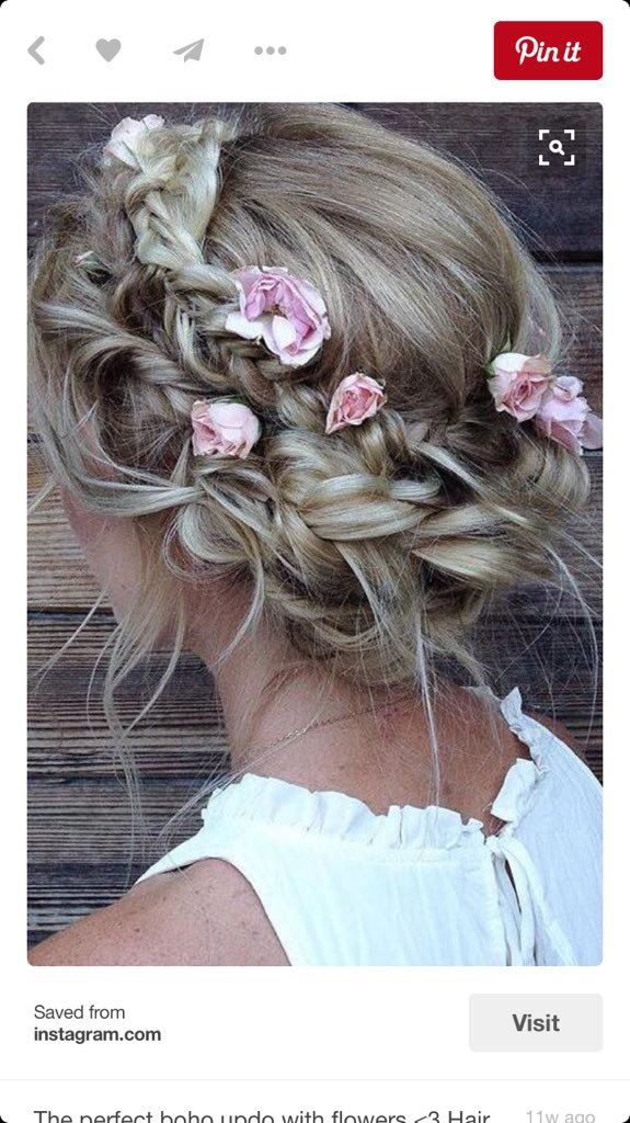 Boho prom hair! Adorable for the right person