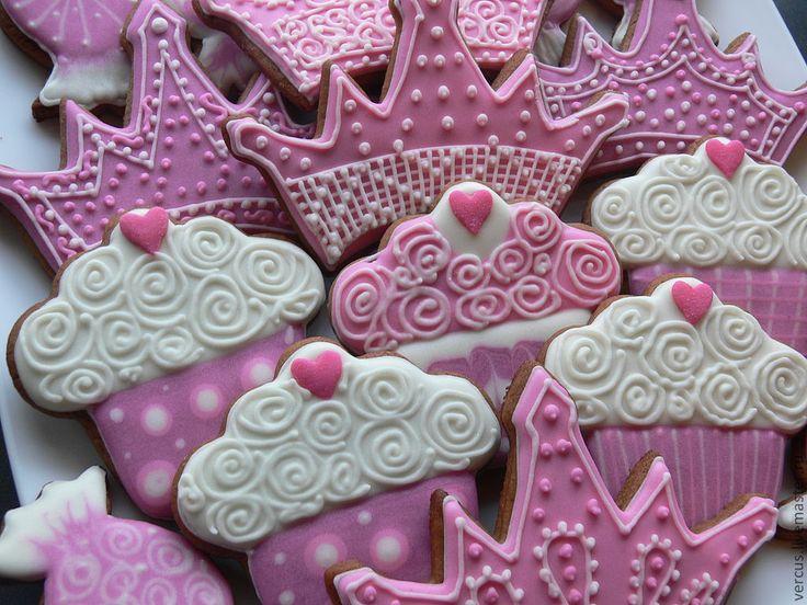 Прянички для Принцессы - розовый, принцесса, кекс, конфеты, пряник, пряники, имбирное печенье, handmade