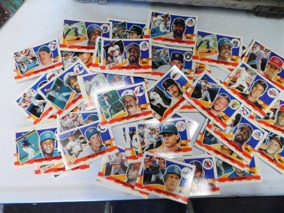 Large Stack Of Baseball Cards Topps Ball Cards Sports