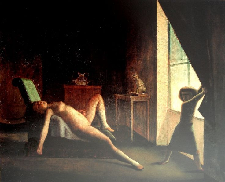 Balthus - Figurative Painting - Nude