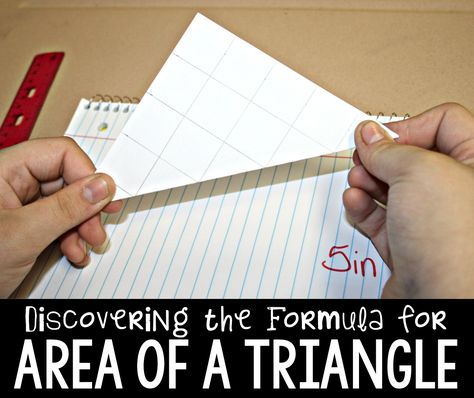 The Primary Gal: Discovering the Formula for Area of a Triangle!