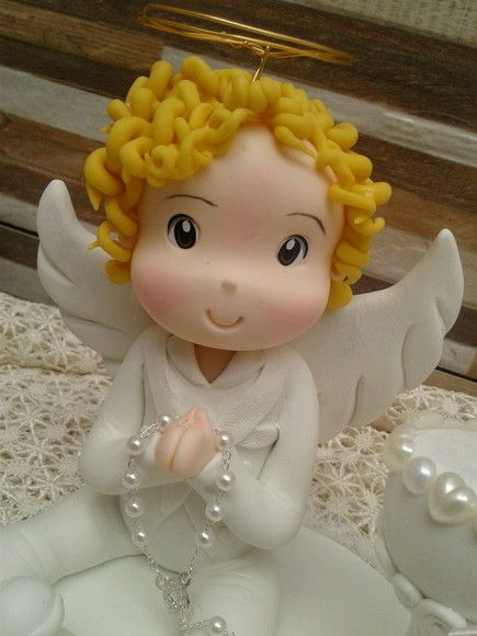 Topo Batizado anjo biscuit
