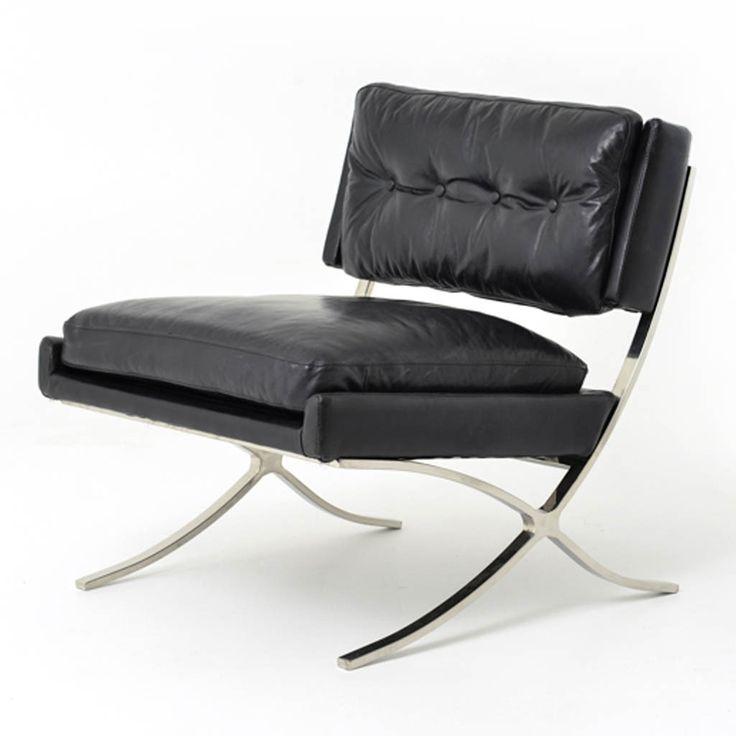 Heathrow Lounge Chair - Saddle Black