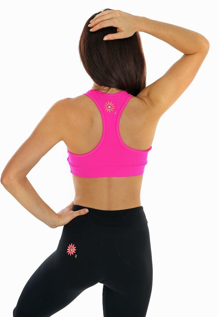 Margarita Neon Pink Racer Back Bra Top | Daisy Fitness Wear