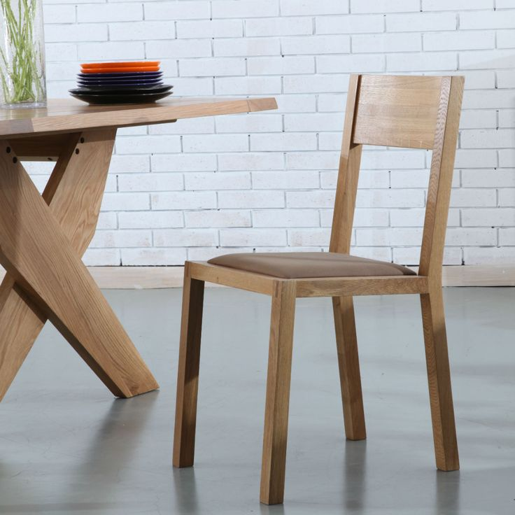 Marko Solid Oak Dining Chair - Brown Fabric Seat - ICON BY DESIGN #iconbydesign #iconbydesignaustralia #redeemadeal #redadeal