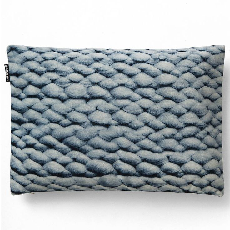 Snurk Beddengoed Sierkussen hoes Twirre ice blue, 35x50cm, blauw 1