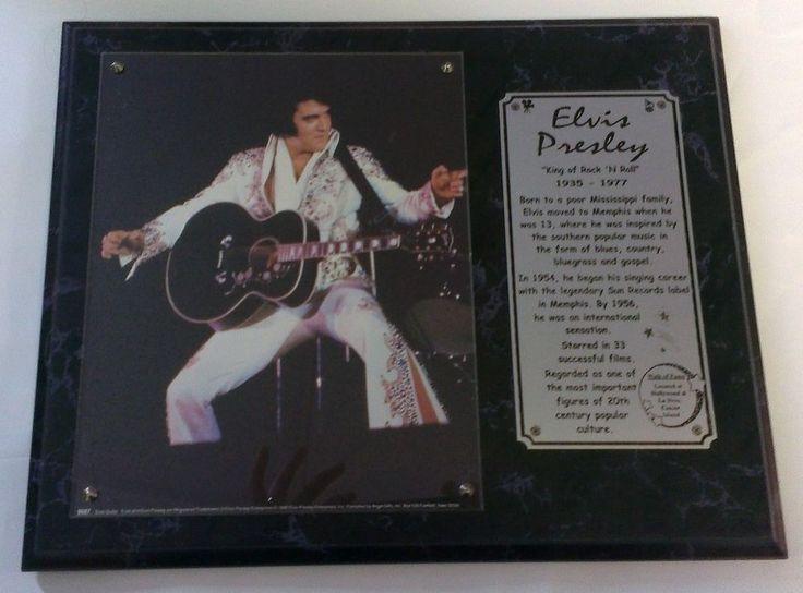 Elvis Presley Collectible Wooden Plaque The King Souvenir Collectors Item