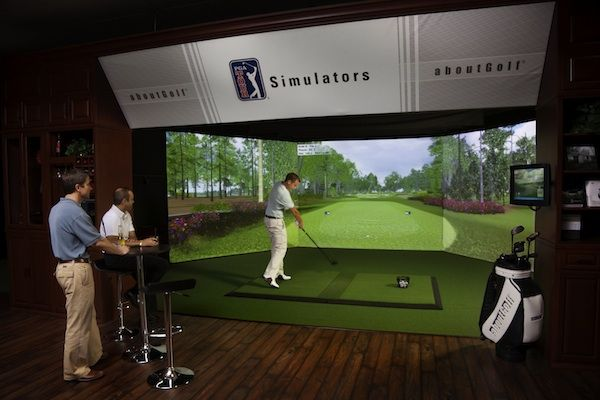 Golf Simulators: Buyer's Guide..i am not a golfer...but would be FUN to have this in in a rec. Room for family and friends!!