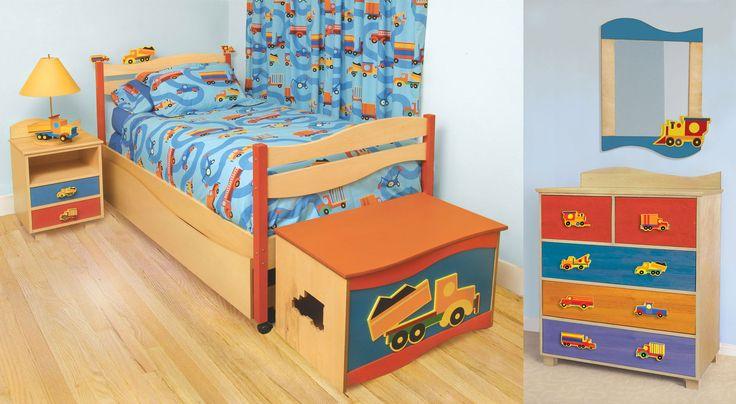 wood floor children bedroom sets with lampshade on nightstand for small kids bedroom