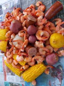 Boiled shrimp doesn't have to be just for a party or a crowd. Spicy shrimp, sausage, corn and potatoes makes a great summer meal when pair...