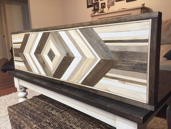 wood wall art  chevron reclaimed wood wall by JustaGirlAndHerSaw