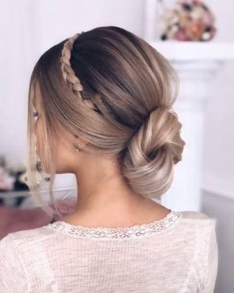 #wedding #braid #bride #weddinghair #hair #hairsty…