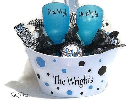 PERSONALIZED Wedding Gift Basket, wedding shower, bridal shower ...