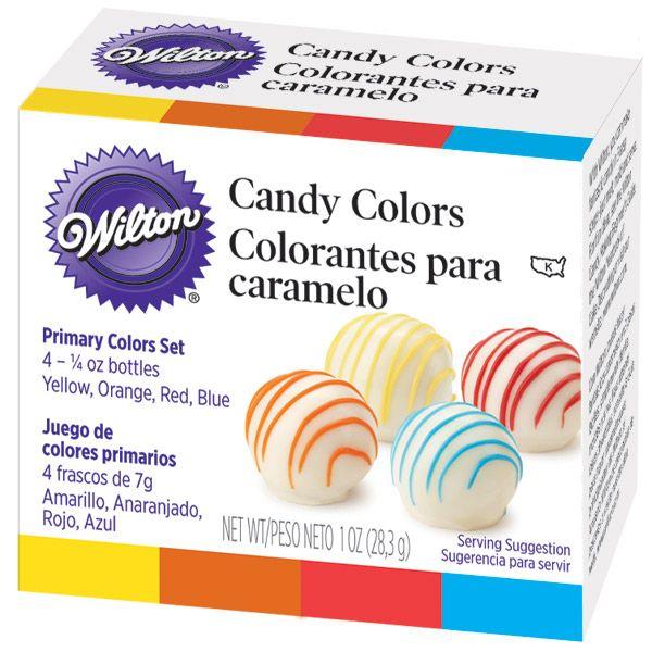 The Great American Cake - Wilton 4 Primary Candy Colors - Wilton Corantes para Chocolate 4 Cores Primárias