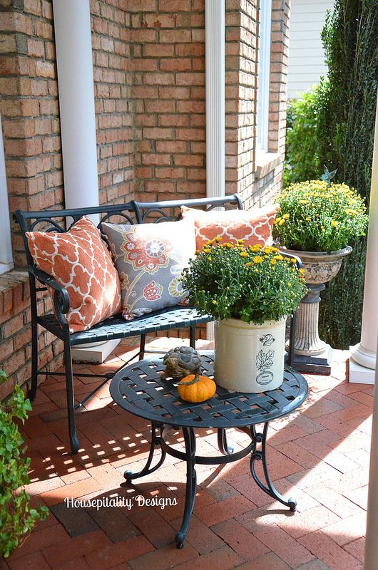 83 best fall deck orating images on pinterest balcony for Fall balcony decorating ideas