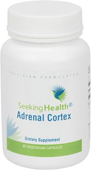 Adrenal Cortex by Seeking Health (Adrenal Cortex Supplement). Quick Energy for the Tired and Fatigued. Supports nervous system*. Supports normal energy levels*. Supports healthy stress response* . Available at ProHealth.com ($10.95) #ProHealth