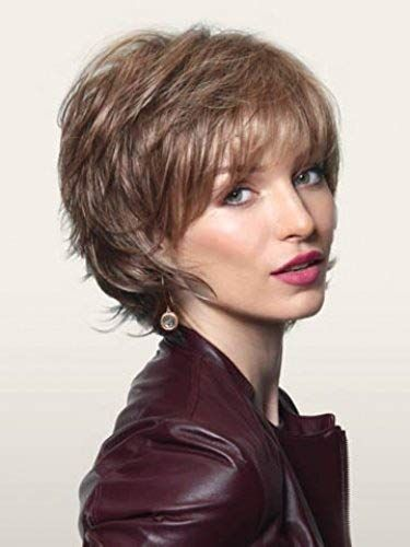 Best Seller Sky Avg Cap Wig Color Marble Brown – Noriko Wigs Short 5 Razored Bob Feathered Layers Wispy Ends Synthetic Open Weft online