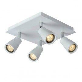 Lucide - Spot Lana LED quadruple IP44 blanc