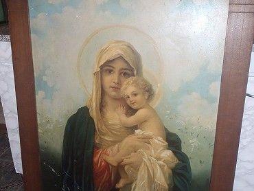 Prodám obraz s panenkou Marií a děťátkem