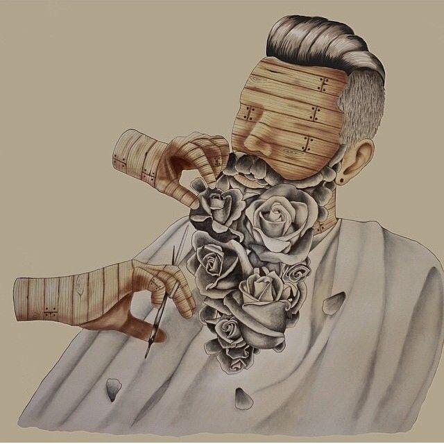 Barber Art : ... art dp3 barber real barber barber signs lady barber bearded dream