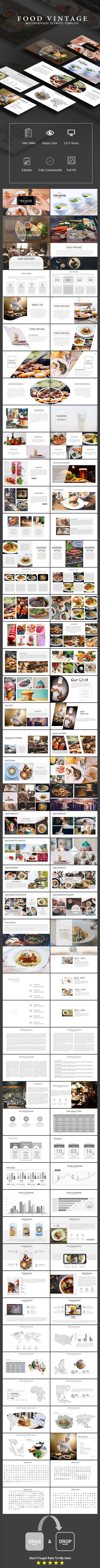 Food Vintage Multiperpouse Keynote Template