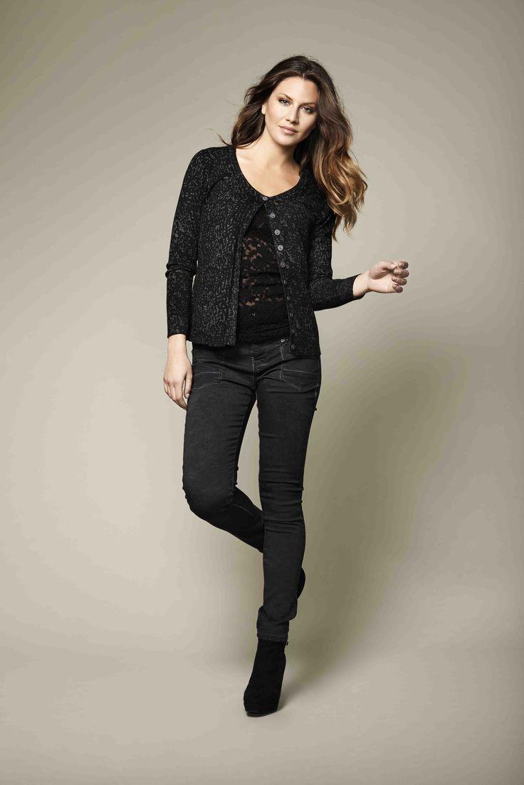soyaconcept - knit - cardigan - blouse - pants - jeans