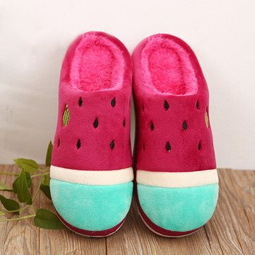 Women Casual Home Shoes Carton Indoor Slippers Cotton Warm Home Shoes - US$14.09