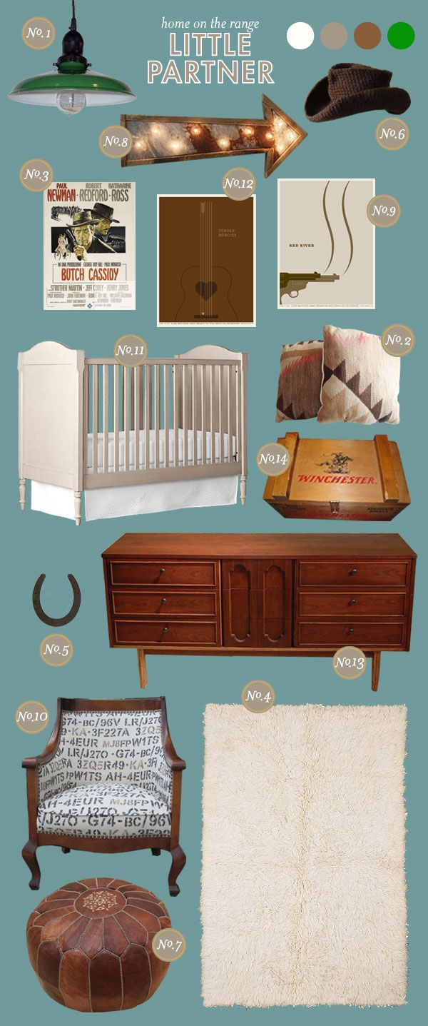 Cowboy Baby Nursery Ideas --- i think a western theme would be adorable with a  little baby girl too!