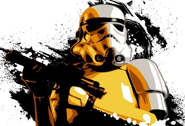 Stormtrooper Art Pop Art And Star Wars On Pinterest