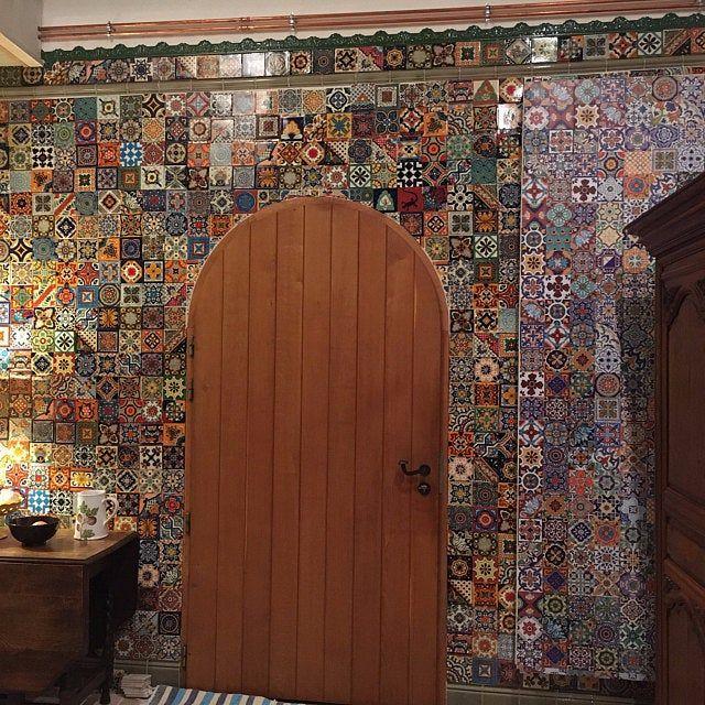 Encaustic Moroccan Tile Wall Stair Floor Self Adhesive Vinyl Etsy In 2020 Flooring For Stairs Stairs Vinyl Wall Tiles