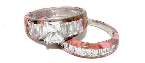 pink camo promise rings for couples