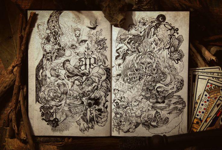 French artist DZO and his dark sketchbook.