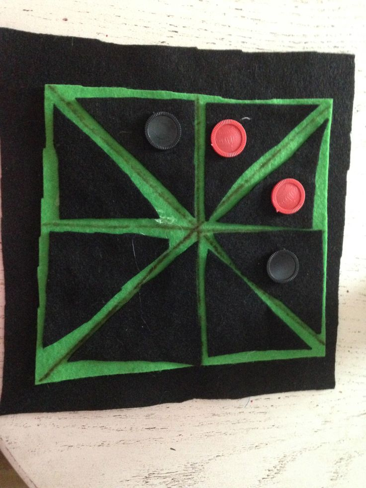 Tic-tac-toe is popular in the United States, but in Ghana the children play Achi. In this project, make a felt game board for Achi.