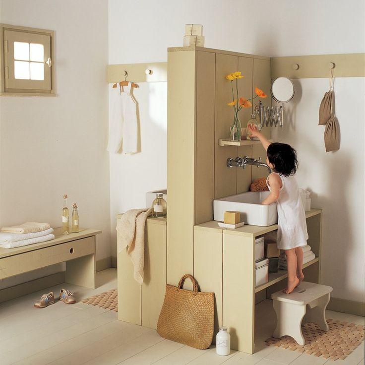 8 best Salle de bains enfants images on Pinterest Bathroom - salle de bain rouge et beige