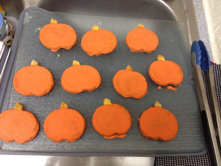 Pumpkin Dog Treats with Icing, Dog Treats, Homemade Dog Treats, Healthy Dog Treats, Preservative Free by LakersBarkery on Etsy https://www.etsy.com/listing/166570025/pumpkin-dog-treats-with-icing-dog-treats