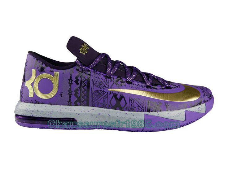 Nike KD 6 VI BHM Chaussures De Basket-Ball Pour Homme Pourpre 646742-500