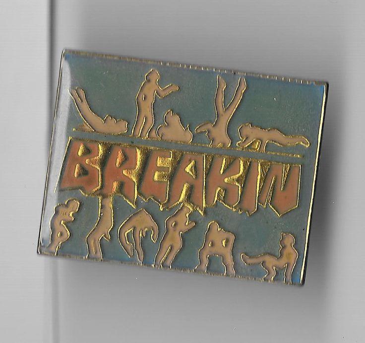 Vintage Hip Hop Film 'Breakin' 1984 release old enamel pin