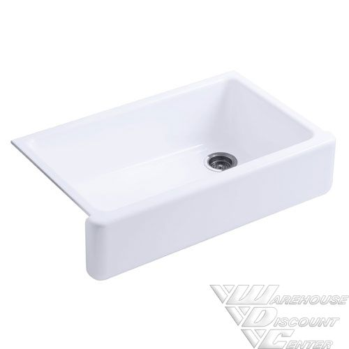 Discount Apron Front Sink : ... Single Bowl Apron Front Sink in White Warehouse Discount Center