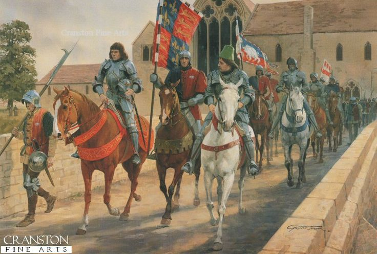 graham turner art | The March from Leicester by Graham Turner