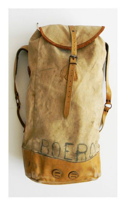 Vintage Heavy Duty Backpack Leather and Canvas - ALCHEMIEVITAGE