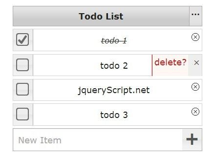 Todolist is a really simple jQuery plugin to create a responsive & animated todo list component on your web page, styling with jQuery UI.