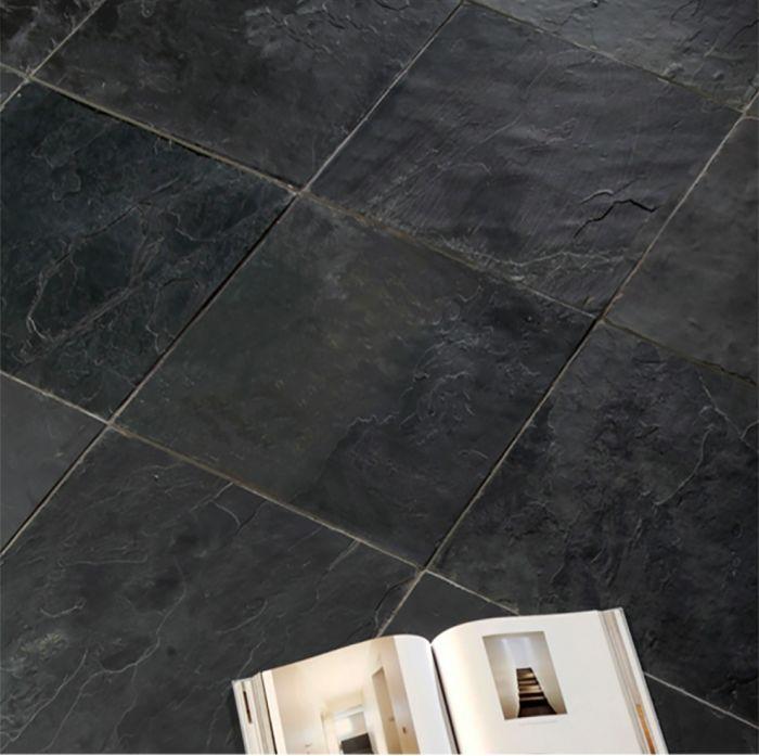 Natural Black Slate Tiles Tiles Black Slate Floor Slate Flooring