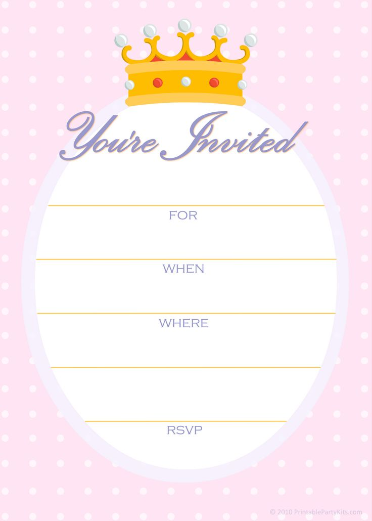 Best 25 Free printable birthday invitations ideas – Printable Kids Birthday Party Invitations