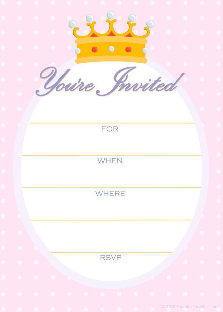 Best 25+ Printable Party Invitations ideas on Pinterest   Mermaid ...