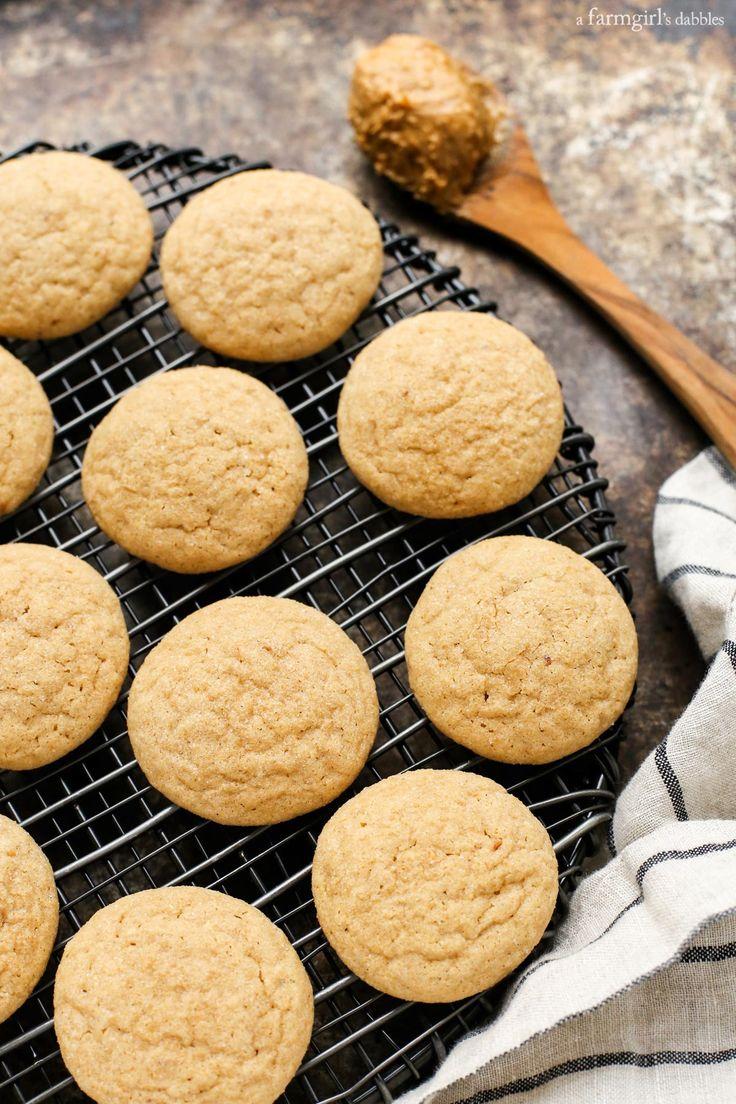 Honey Roasted Peanut Butter Cookies from afarmgirlsdabbles.com