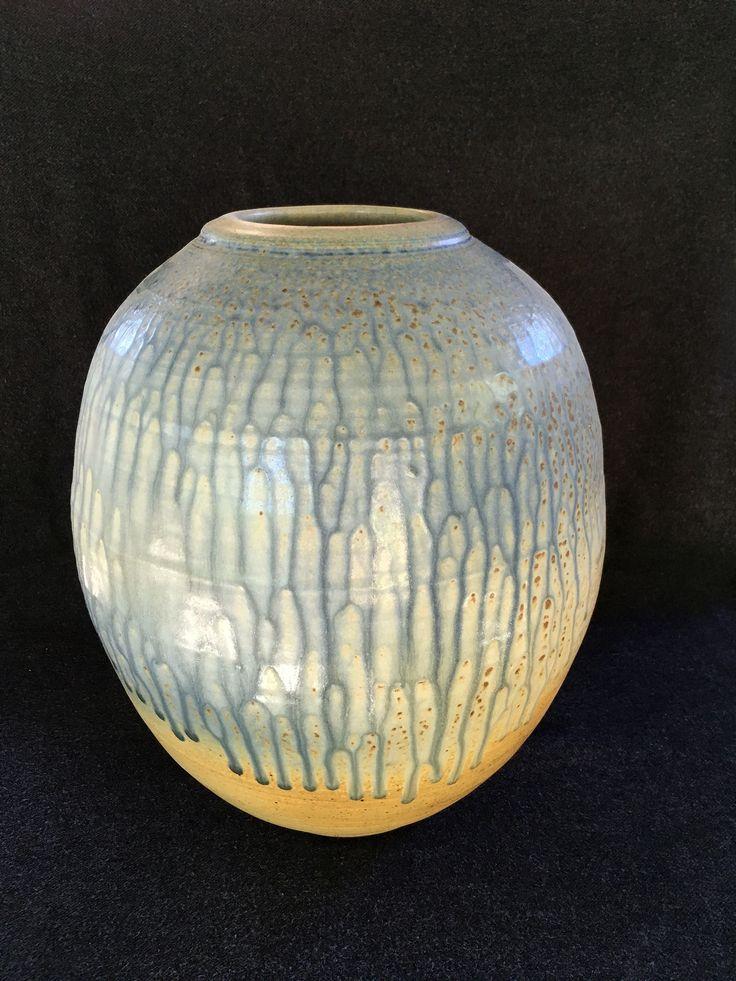 David Collins - large jar, woodash overspray, 36cm